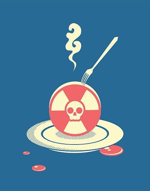 Radiation pollution vector art illustration