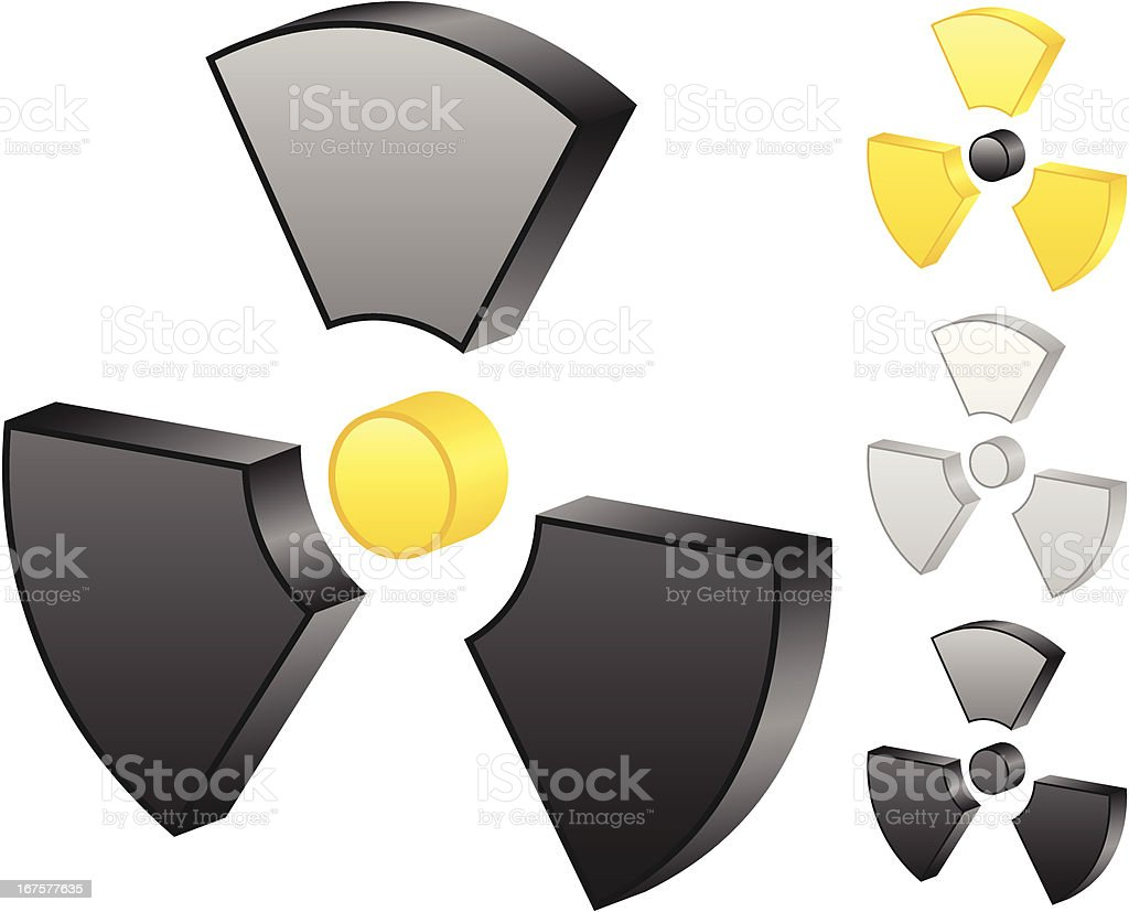 radiation sign royalty-free radiation sign stock vector art & more images of black color