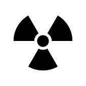 Radiation symbol vecor icon. Radioactivity icon in black color