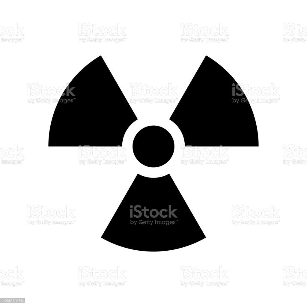 Radiation symbol vecor icon. Radioactivity icon in black color vector art illustration