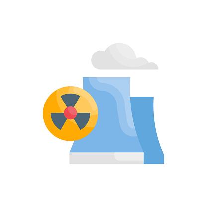 Radiation vector flat icon style illustration. EPS 10 file