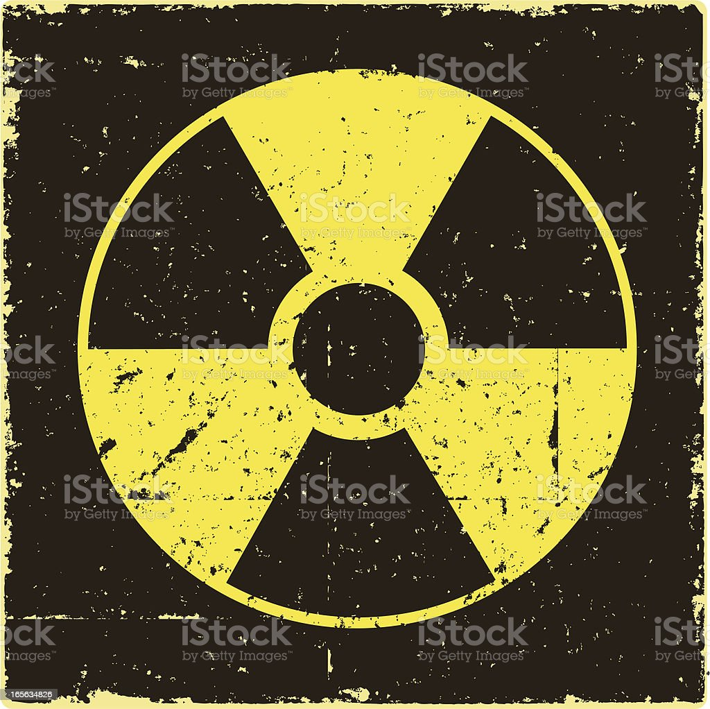 Radiation Warning Sign royalty-free stock vector art