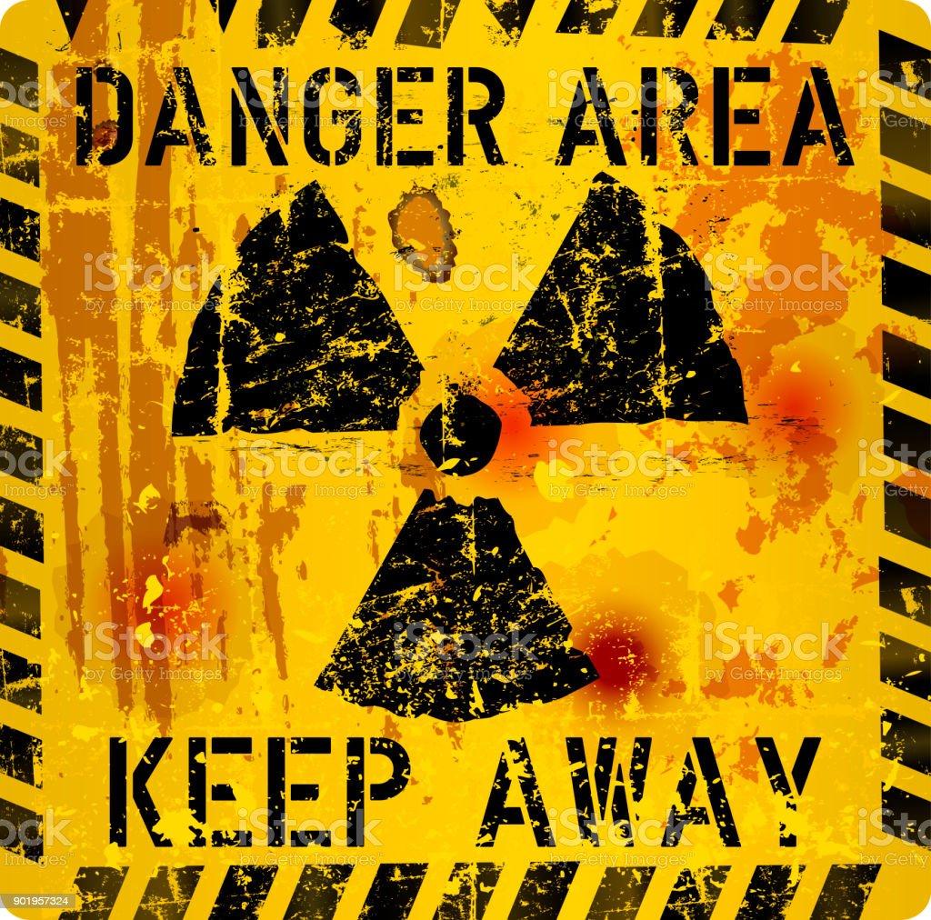Strahlung-Warnschild – Vektorgrafik