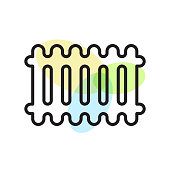 Radiator icon vector sign and symbol isolated on white background, Radiator logo concept