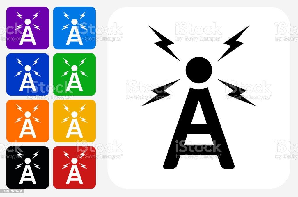 Radio Antenne Symbol Square Buttonset Stock Vektor Art und mehr ...