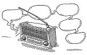 Radio Broadcast Speech Bubble Drawing