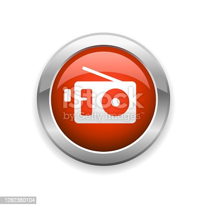 istock Radio Broadcasting Glossy Icon 1262380104