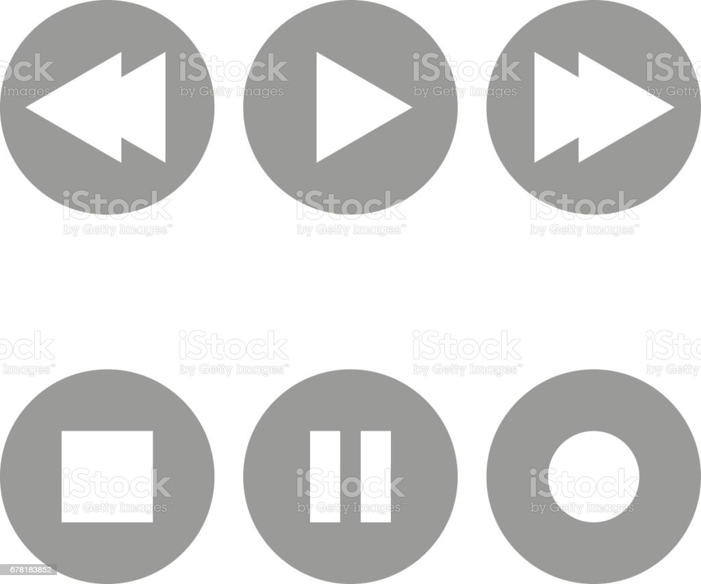 Radio buttons icons. vector art illustration