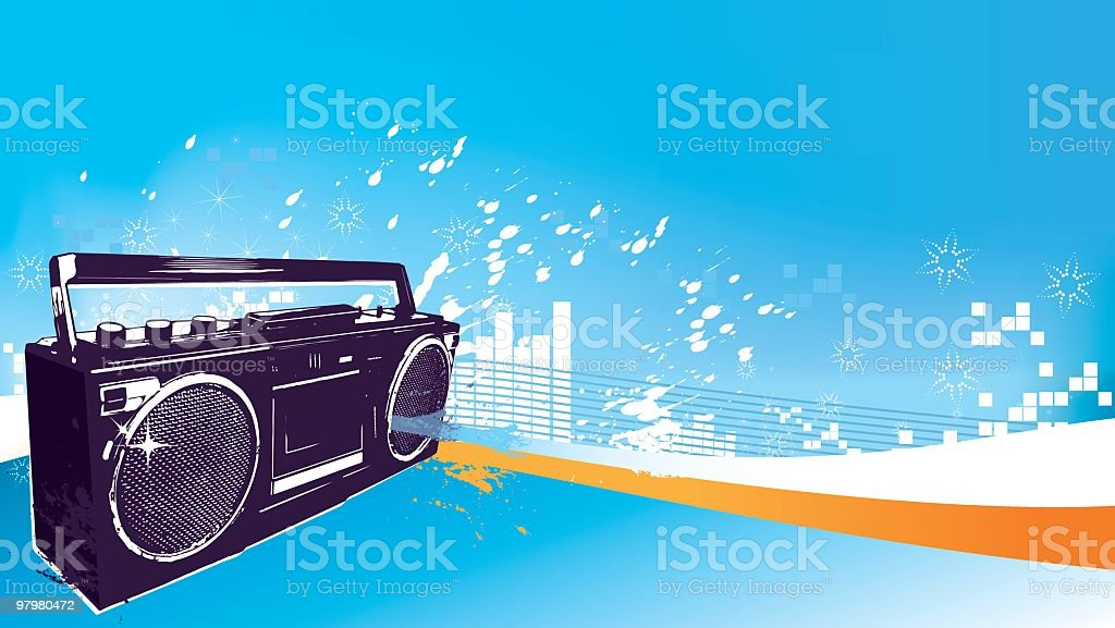 Radio cassete background royalty-free radio cassete background stock vector art & more images of 1980-1989