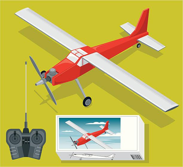 無線制御飛行機セット - リモート点のイラスト素材/クリップアート素材/マンガ素材/アイコン素材