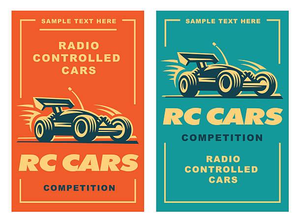 Radio controlled machine, RC vector art illustration