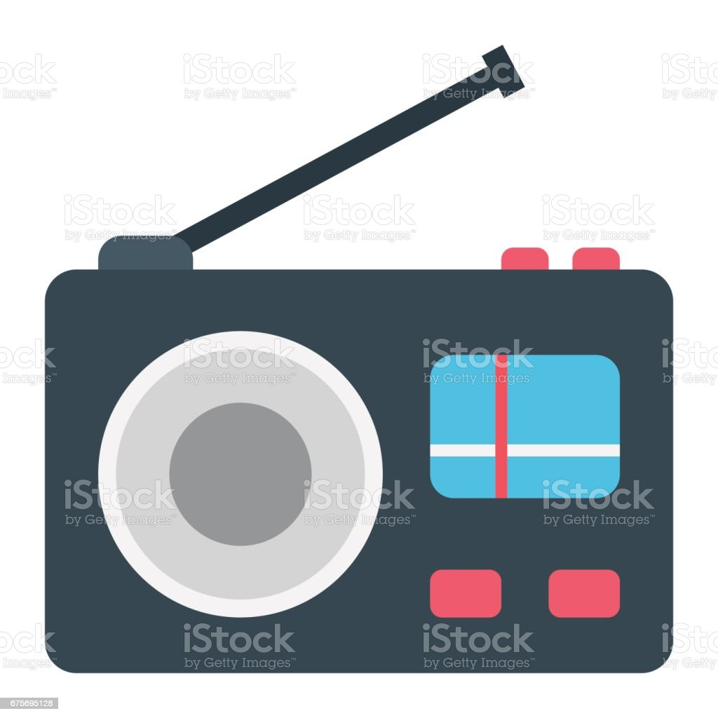 Radio flat icon, communication and website button, vector graphics, a colorful solid pattern on a white background, eps 10. royalty-free radio flat icon communication and website button vector graphics a colorful solid pattern on a white background eps 10 stock vector art & more images of arts culture and entertainment
