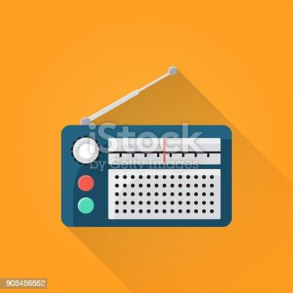 istock Radio Flat Icon 905456552