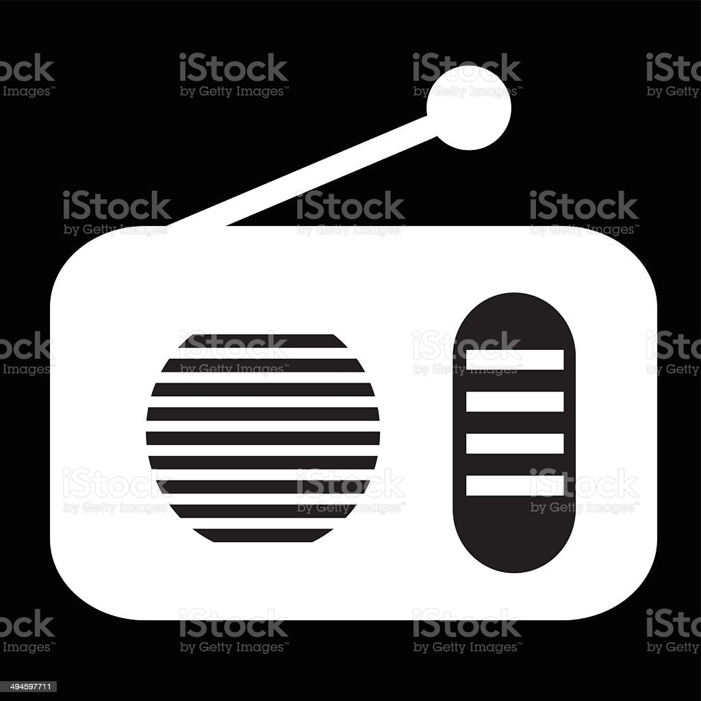 Radio Icon- Vector vector art illustration