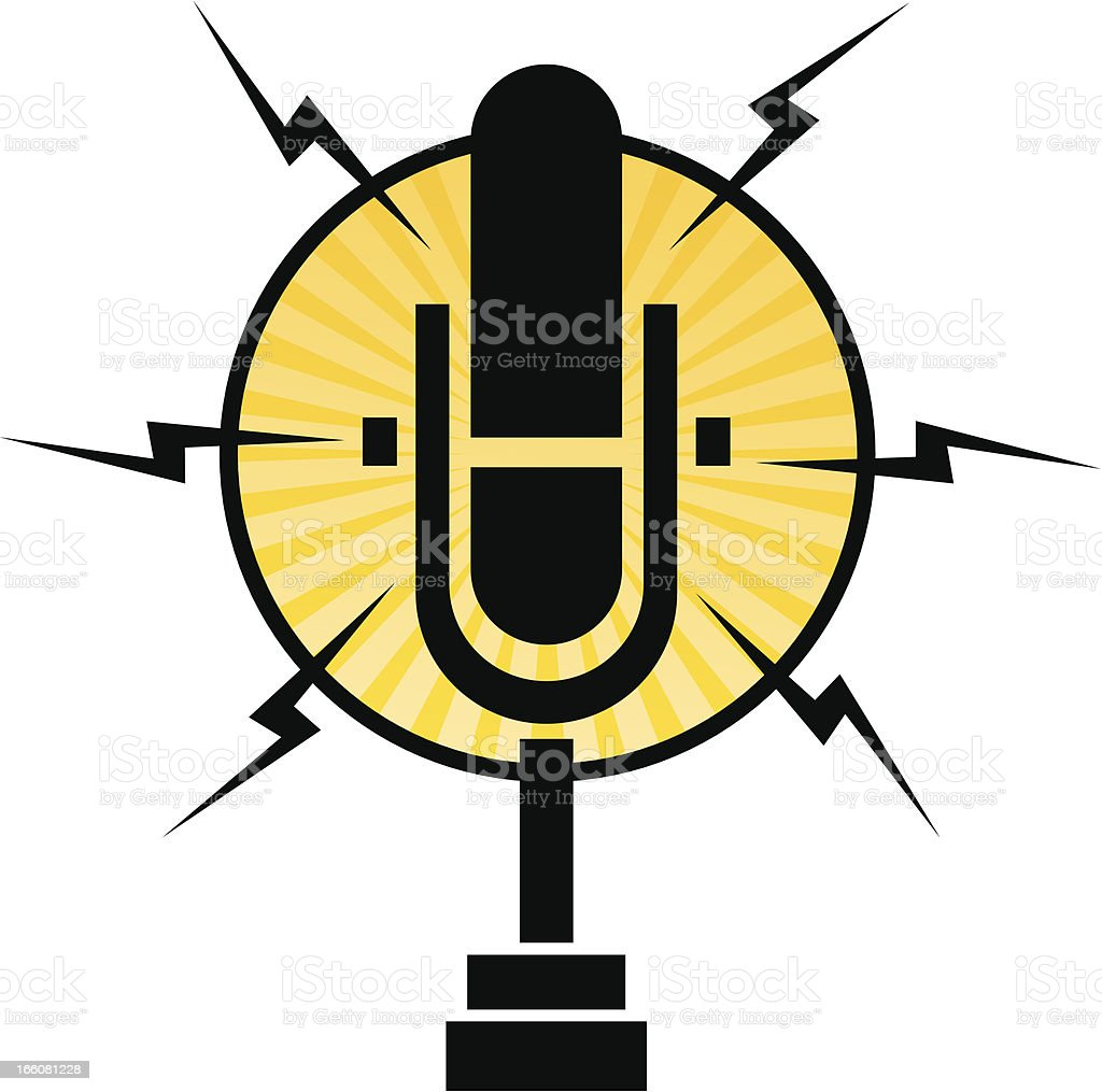 Radio microphone signal icon on white background royalty-free radio microphone signal icon on white background stock vector art & more images of arts culture and entertainment