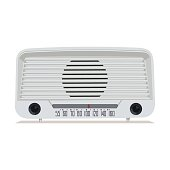 Radio retro. Old Radio. Illustration of an old radio receiver of the last century. Vector illustration.