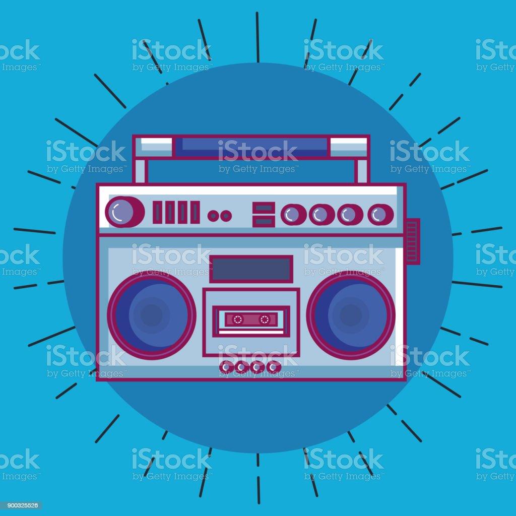 Radio-Retro-Technologie-Symbol – Vektorgrafik