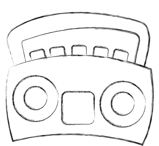 ilustrações, clipart, desenhos animados e ícones de rádio estéreo ícone isolado - ícones de festas e estações