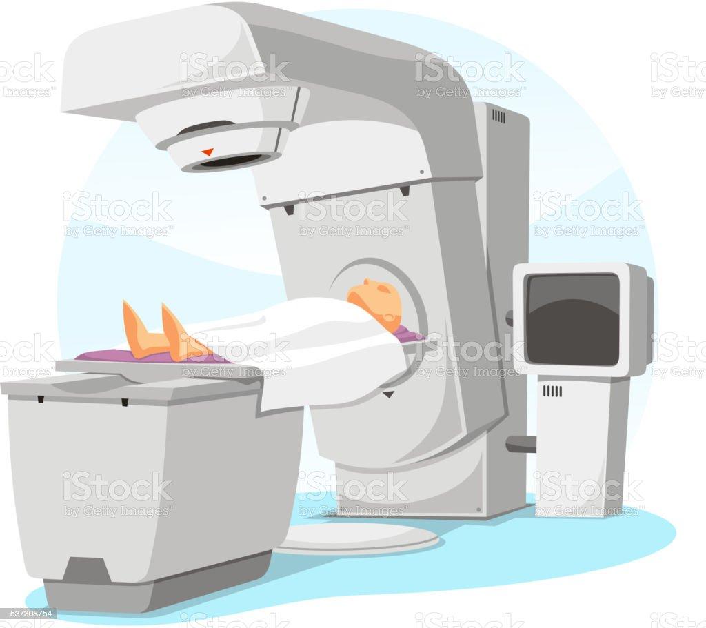 radio therapy vector art illustration