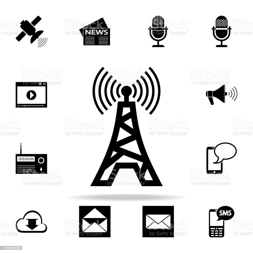 Radioturmsymbol Universalmediaicons Set Für Web Und Mobile Geräte ...