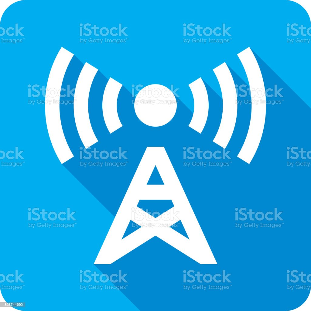 Radio Tower Icon Silhouette