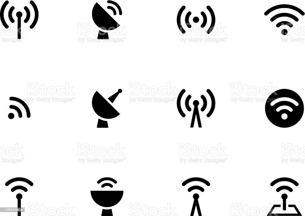 Radio Tower icons vector art illustration