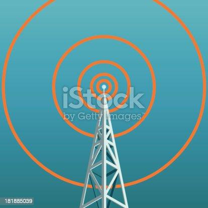 radio tower - isometric