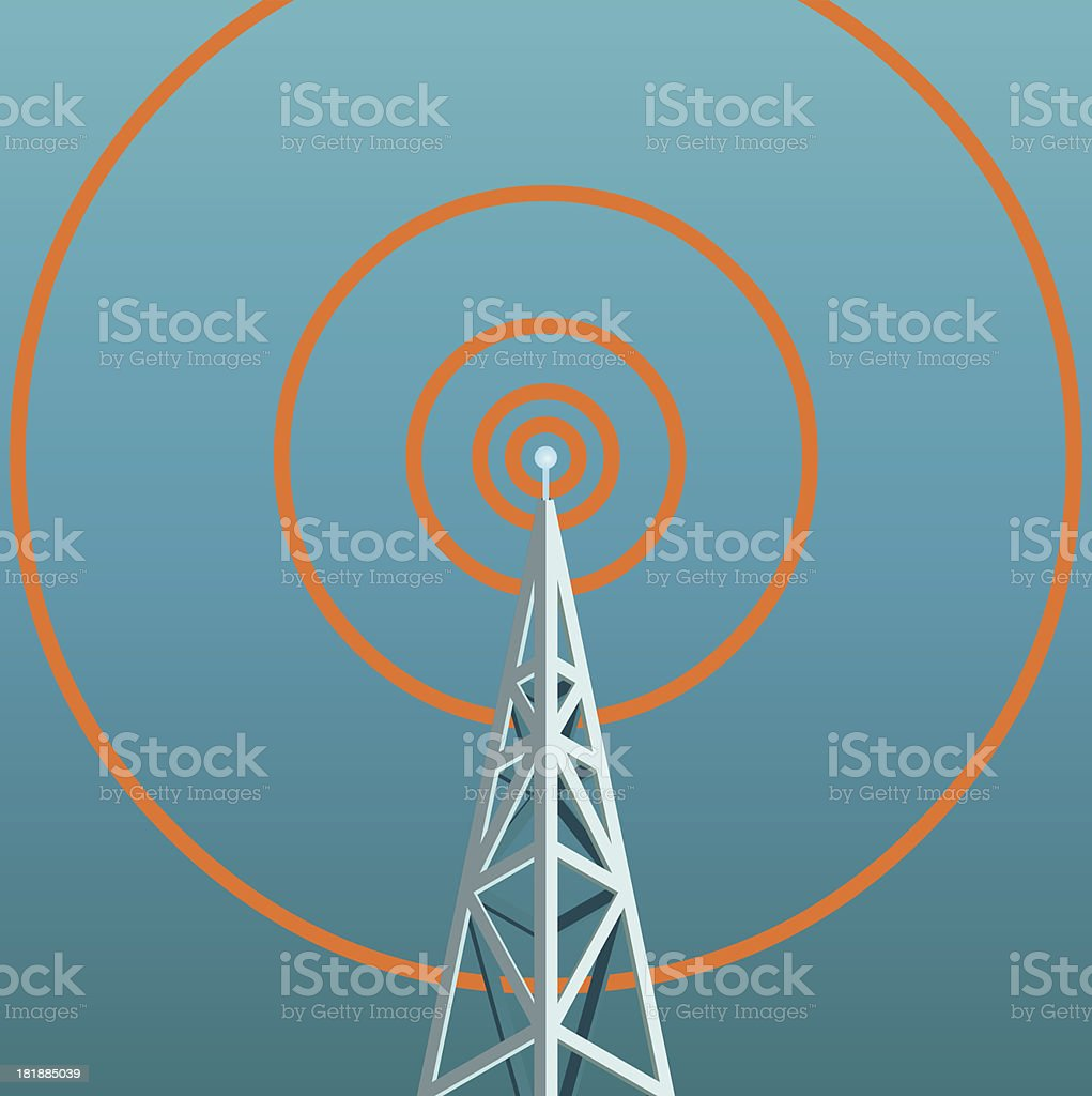 radio tower vector art illustration