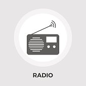 Radio vector flat icon