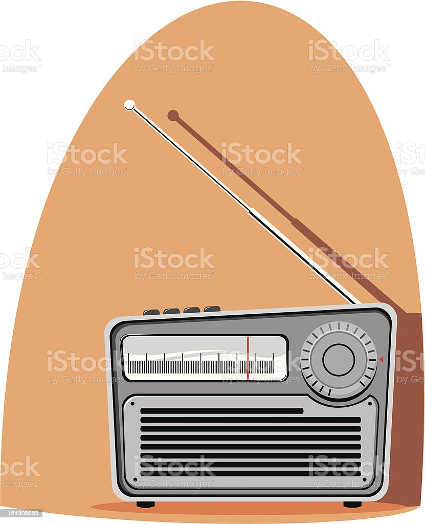 Radio vector art illustration
