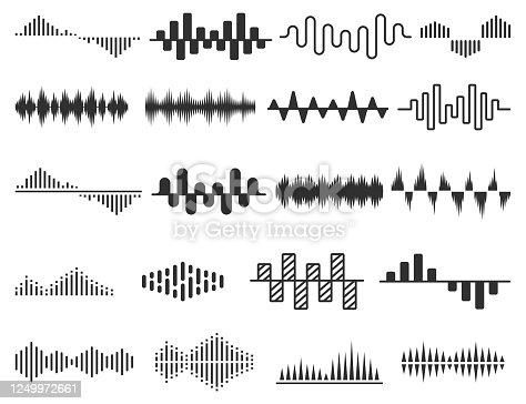 Radio wave icon set