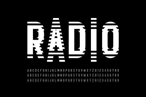 Radio wave style font