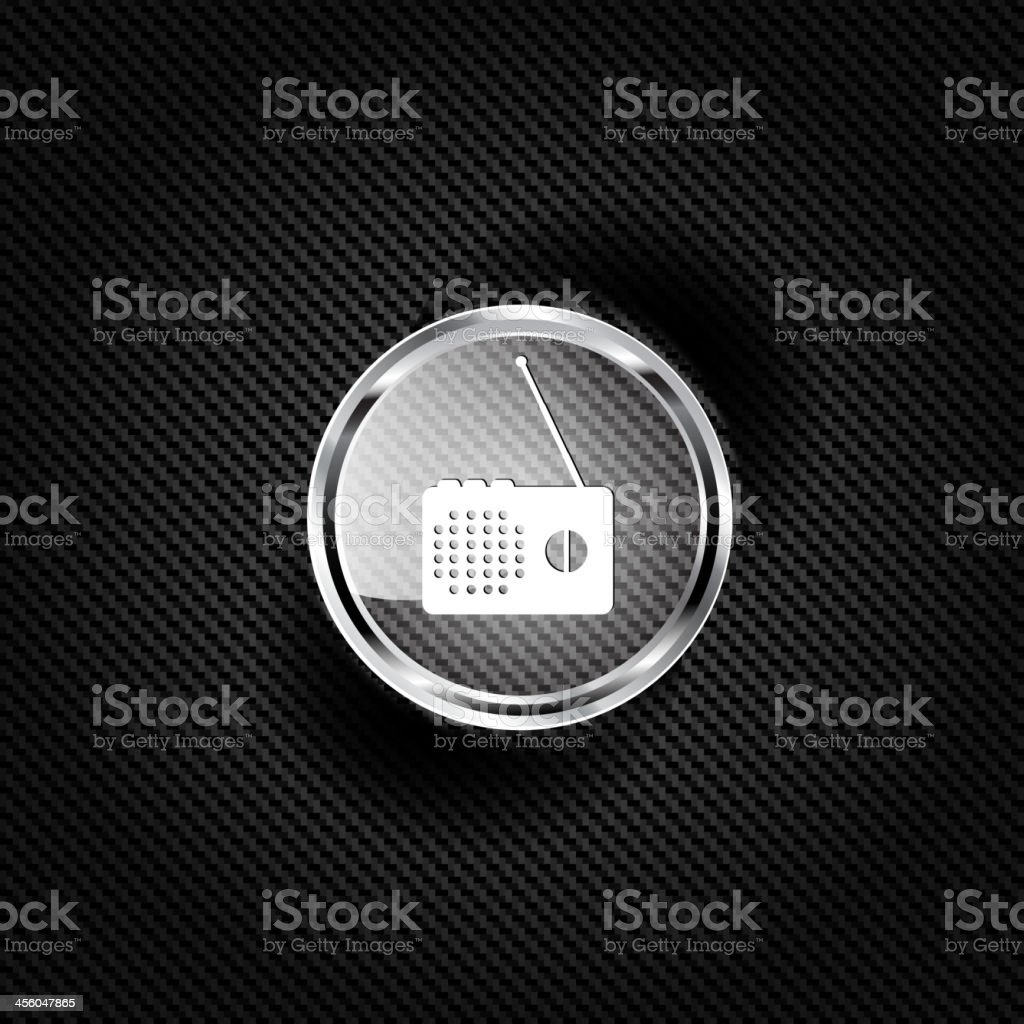 Radio web icon royalty-free stock vector art