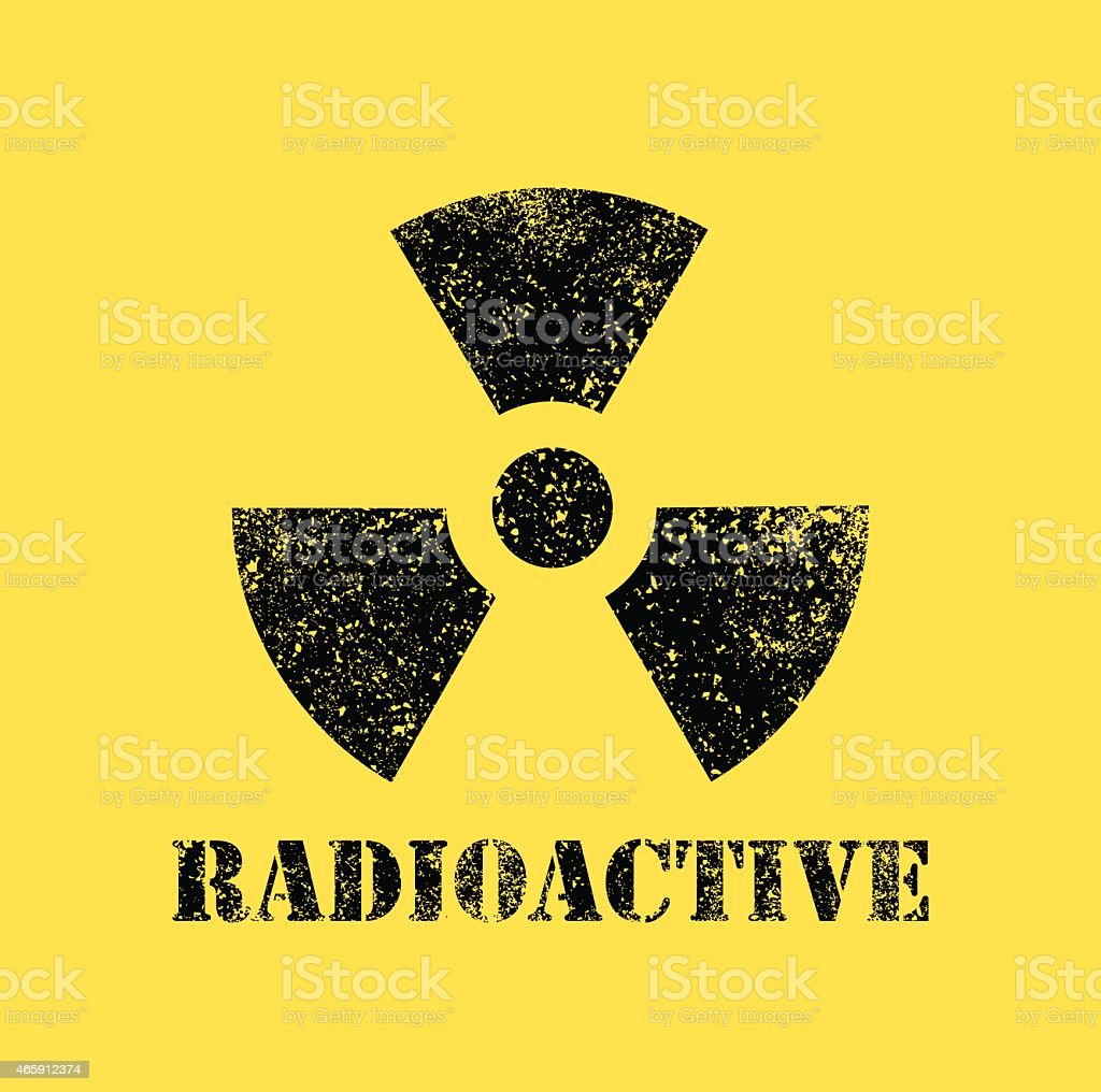 Radioactive contamination symbol - Illustration vector art illustration