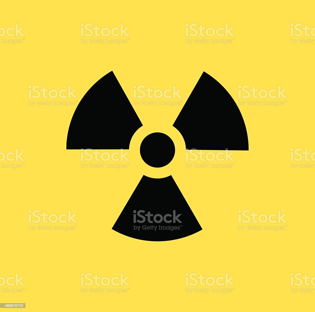 A radioactive contamination symbol vector art illustration