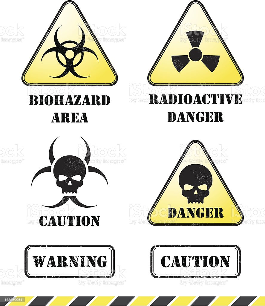 Radioactive danger signs royalty-free stock vector art
