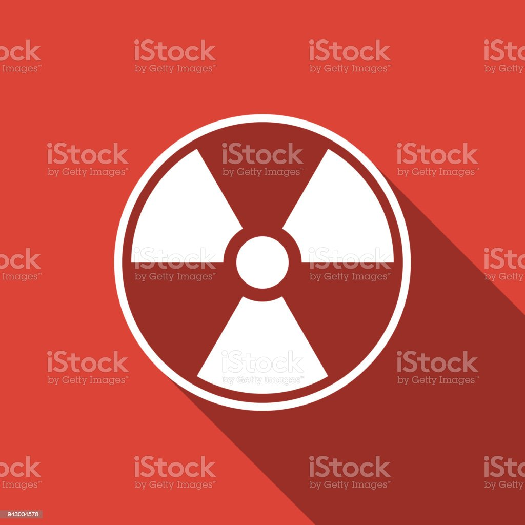 Radioactive icon isolated with long shadow radioactive toxic radioactive icon isolated with long shadow radioactive toxic symbol radiation hazard sign flat biocorpaavc Images