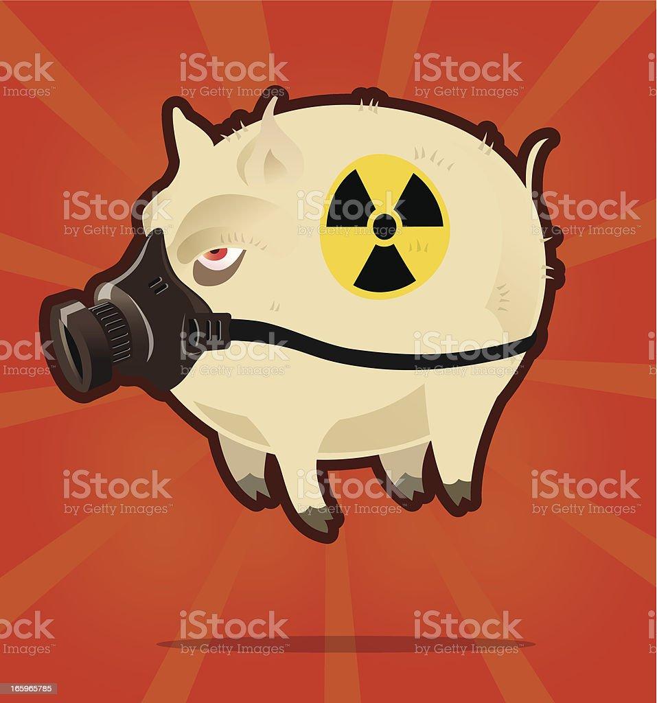 Radioactive pig royalty-free radioactive pig stock vector art & more images of