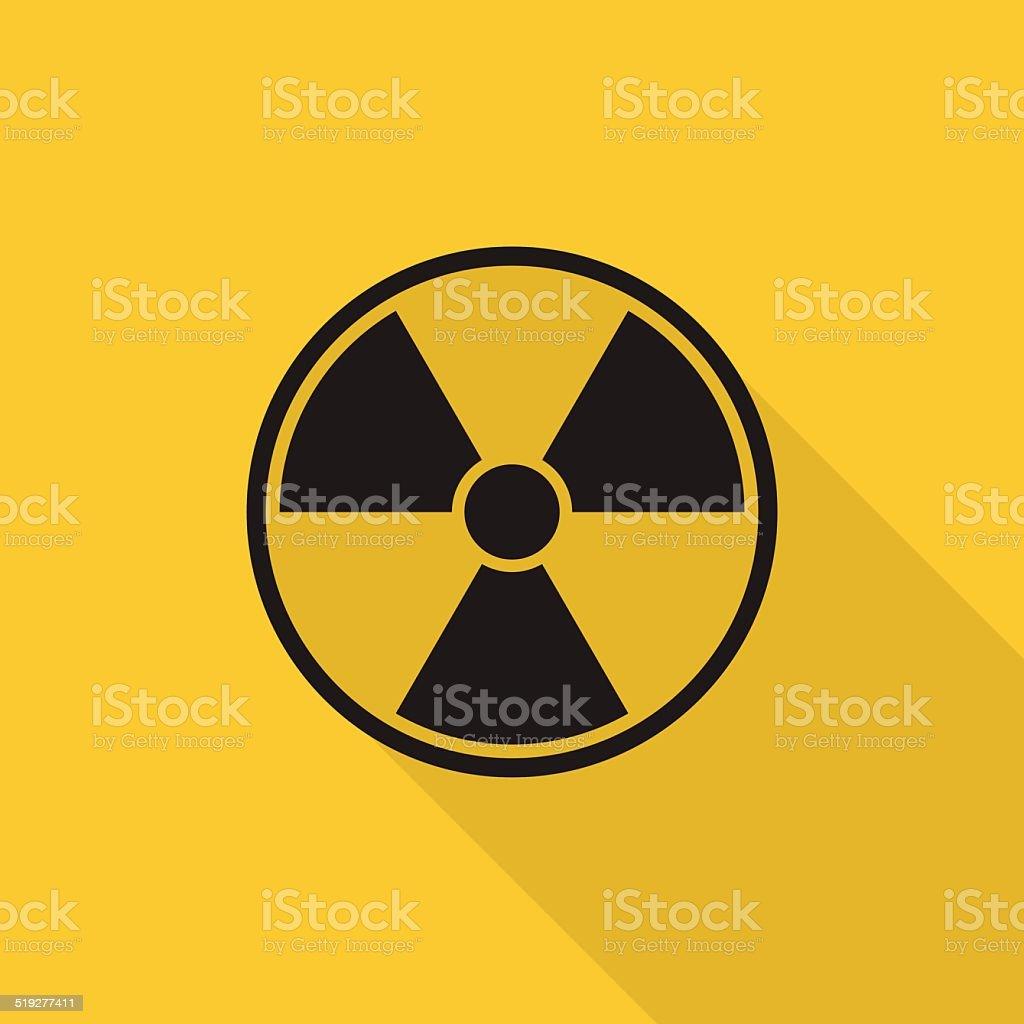 radioactive sign icon vector art illustration