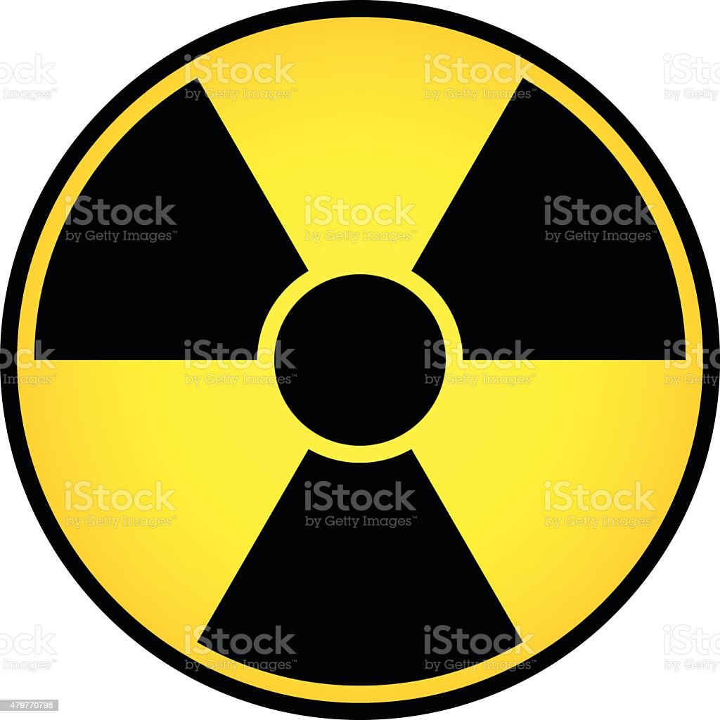 Radioactive sign vector vector art illustration