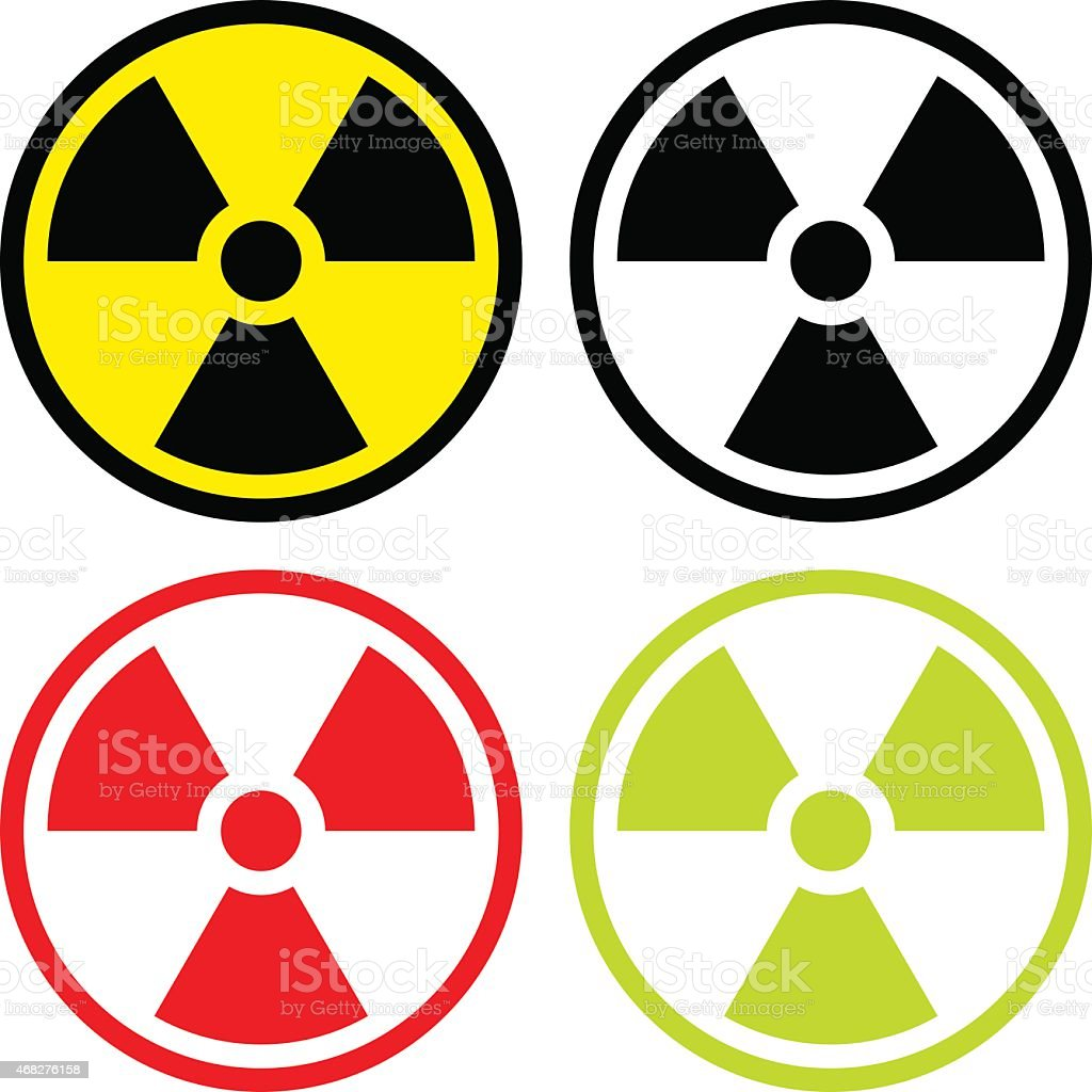 Radioactive symbol vector art illustration