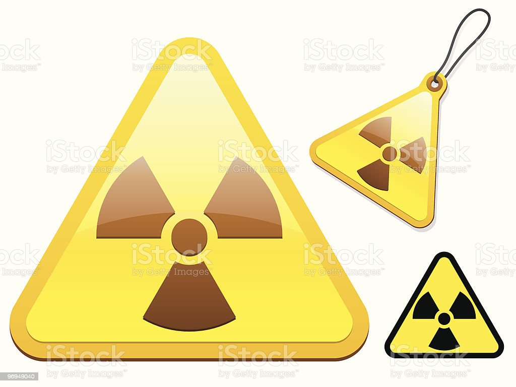 Radioactive tag/icon collection royalty-free radioactive tagicon collection stock vector art & more images of black color