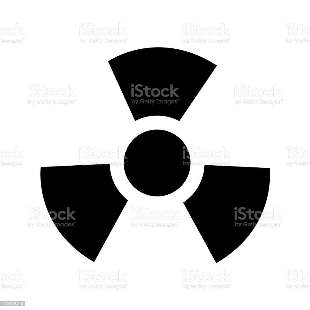 Radioactive warning sign vector art illustration