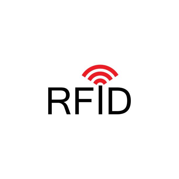 RFID , Radio-frequency identification icon, vector icon Vector illustration radio frequency identification stock illustrations