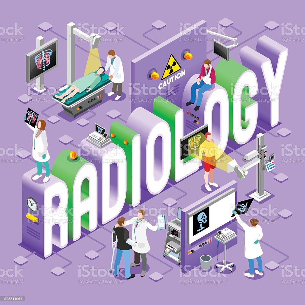 Radiology 01 Concept Isometric vector art illustration