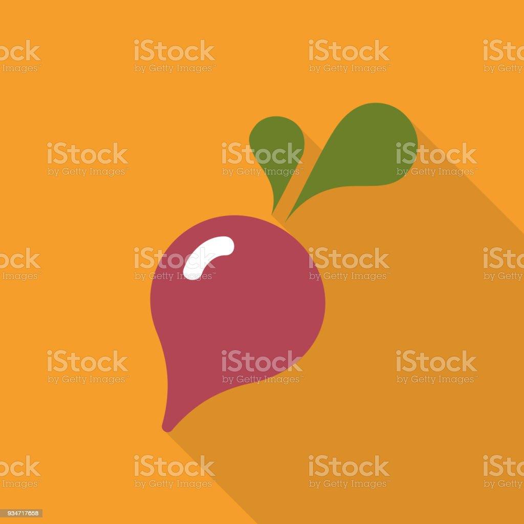 Radish flat icon vector, colorful logo illustration isolated on white vector art illustration