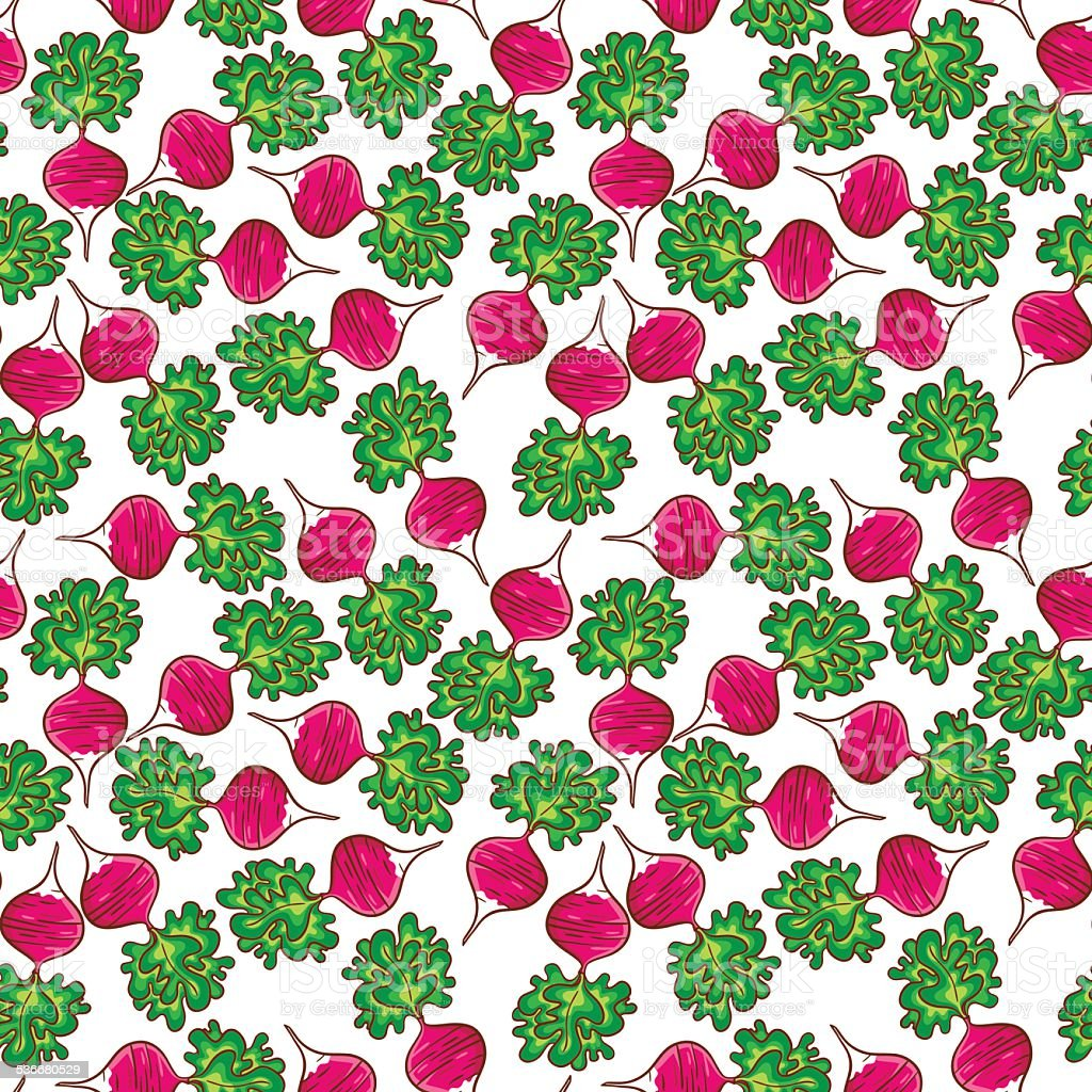 Radish pattern royalty-free radish pattern stock vector art & more images of 2015