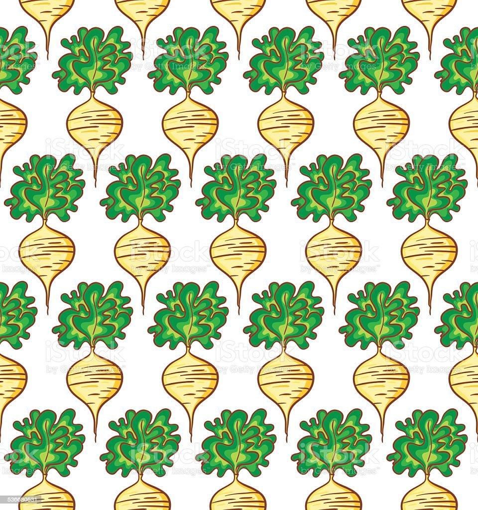 Radish pattern vector art illustration
