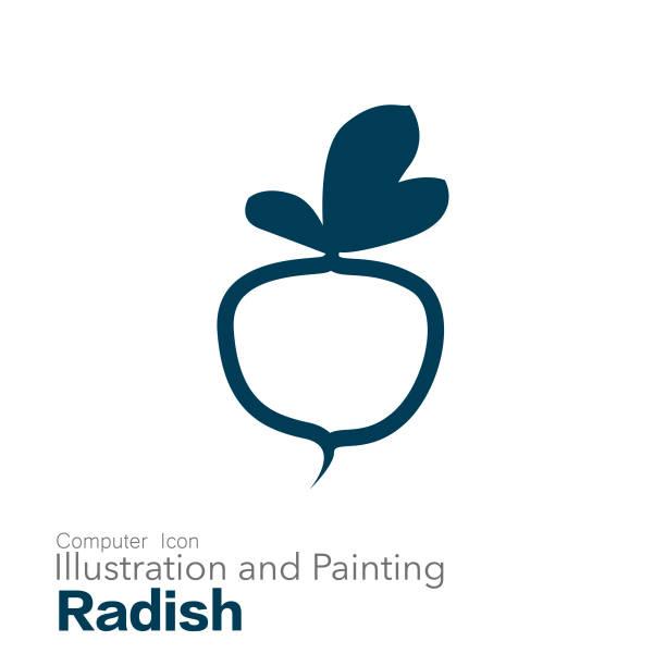 radish vector art illustration