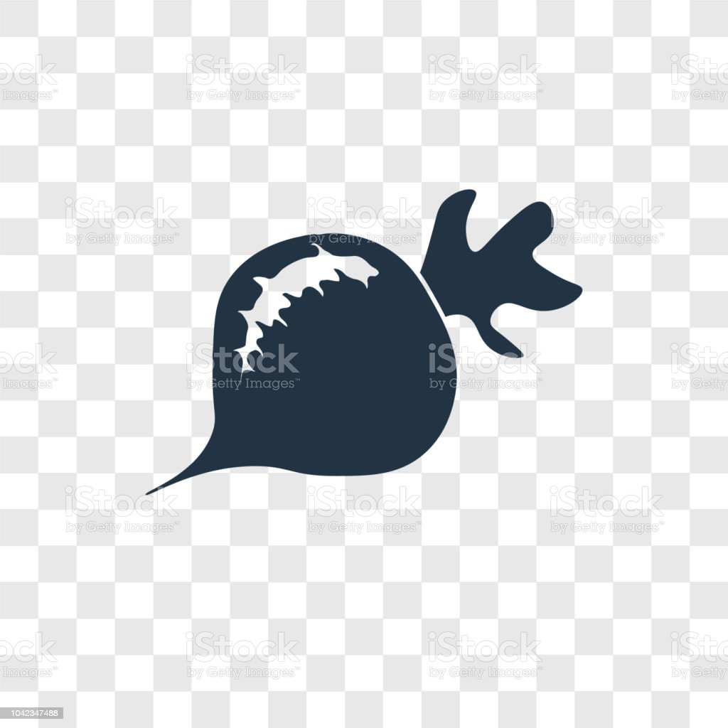 Radishes vector icon isolated on transparent background, Radishes transparency logo design vector art illustration